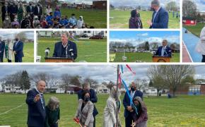 Gov. Mckee, Lt. Gov. Matos, Dir. Coit, Mayor DaSilva and many more joined together to celebrate Arbor Day 2021 in East Providence