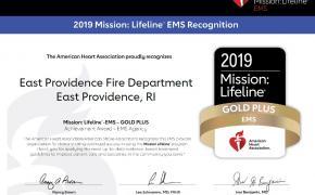2019 Mission: Lifeline-EMS Gold Plus Acheivement Award