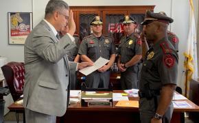 Mayor DaSilva Swears in Lt. Floyd Gardner