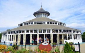 Front facade of Crescent Park Carousel