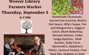 Weaver Farmers Market September Bounty featuring Hank & Tom