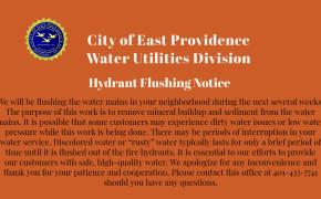 Water flushing notice
