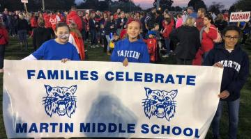 Martin Middle School Banner - Families Celebrate Martin Middle