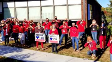 Whiteknact staff shows support to students and families