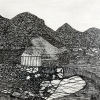 Hunts Mill drawing by the late Len Iannacone